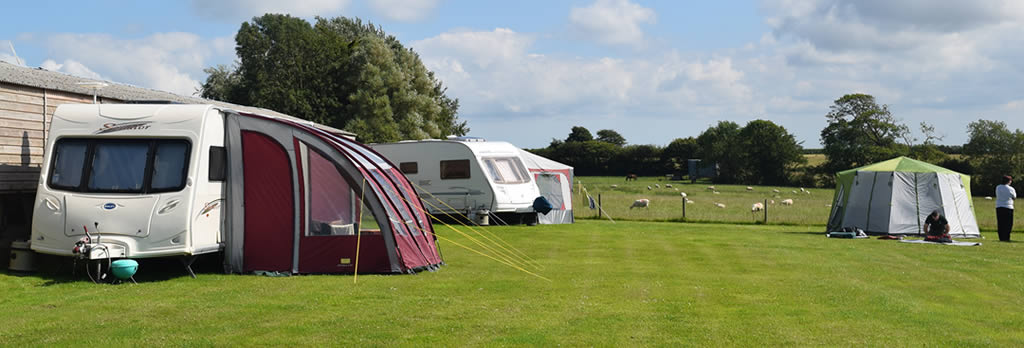 North Devon caravan site