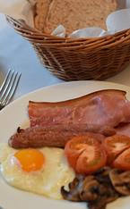 Yellow egg breakfast